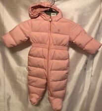 9d0858ee7c5ceb Authentic Polo Ralph Lauren Baby Girls Quilted Down Bunting Snowsuit 6m