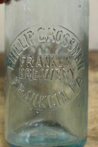 VINTAGE ANTIQUE PHILLIP GROSSMAN BREWERY BEER BOTTLE FRANKLIN, PA