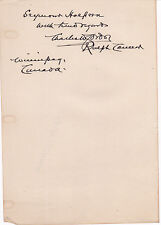 AUTOGRAPH INSCRIPTION by RALPH CONNOR (CHARLES W. GORDON) CANADIAN Novelist