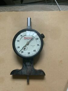 Starrett 644 Series Dial Depth Gauge Indicator Type .005 - .0005 GREAT CONDITION