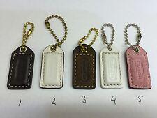 COACH Leather Hangtag Hang tag Keychain Fob Handbag Charm Small Size Choose One