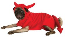 Devil Dawg pet costume for dogs satan tail horns red large hooded jumpsuit