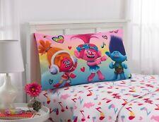 DreamWorks Trolls Love The Beat Kids 3 Piece Twin Sheet Set Poppy Branch DJ Suki