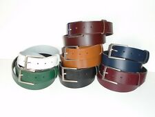 F9 HAND MADE QUALITY LEATHER JEAN OR TROUSER BELTS S TO XXL 7 COLOURS AVAILABLE