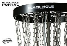 FREE SHIP!! NEW MVP Black Hole Portal Disc Golf Basket - Portable
