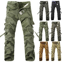 Fashion Cargo Camo Combat Military Men's Casual Trousers Camouflage ARMY Pants