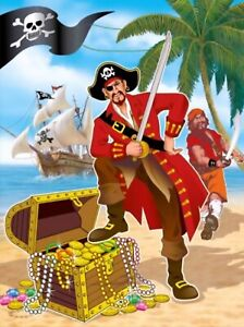 Pirate Treasure Party Loot Plastic Bags Goodie Favour Cake Sweets Toys Christmas
