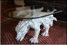 Neuheit Designer Couchtisch Dragon White Gothic Wohnzimmertisch Tisch Glastisch