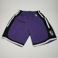Adidas Sacramento Kings NBA Basketball Purple Black Athletic Mens Shorts Sz L