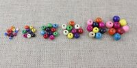 Various Sizes of Colourful round painted wooden beads - Craft, Jewellery Making