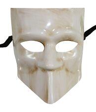 Men's White Bauta Masquerade Full Face Warrior Gladiator One Size Venetian NEW