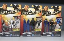 2011 GI Joe Lot Of 3. Roadblock, Storm Shadow, &Snake Eyes Retaliation Movie New