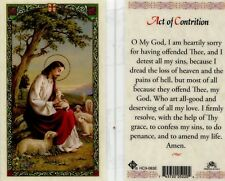 Act of Contrition Catholic Laminated Holy Prayer Card Heartily Sorry Hc9-083e