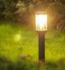 CGC Outdoor Garden Post Pathway Bollard Light Dark Grey Anthracite Waterproof