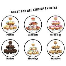 3/4 TIER CUPCAKE STAND CAKE HOLDER TABLE DECORATION WEDDING PARTY CELEBRATION