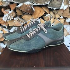 Cole Haan Leather Sneaker Mens 9 Lace Up Lazer Cut Upper Casual Oxford C04341