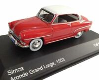 SIMCA ARONDE GRAND LARGE 1953 - 1/43 WHITEBOX NEUF