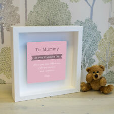 '1st Mother's Day' Box Frame with 3D Metal Artwork - Personalised Picture Gift