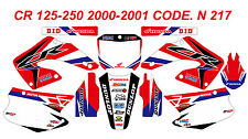 N 217 HONDA CR 125-250 2000-2001 Autocollants Déco Graphics Stickers Decals Kit