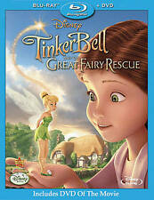 Tinker Bell and the Great Fairy Rescue (Blu-ray/DVD, 2010, 2-Disc Set)  NEW