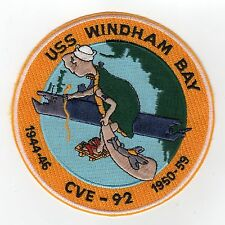 USS Windham Bay CVE 93 - Turtle on carrier BC Patch Cat. No. C5329