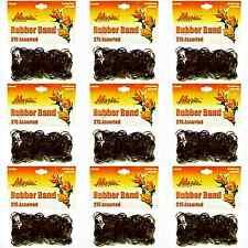Hair Rubber Bands 2475 pcs (9 bags x 275/ea) Magic Brand Brown _144-08Nx9