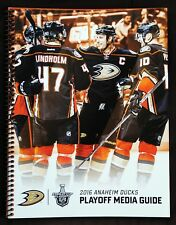 2016 Anaheim Ducks Stanley Cup Playoffs Media Guide. Getzlaf, Perry. RARE!