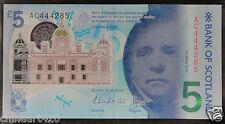 SCOTLAND Polymer Plastic Banknote 5 Pounds 2016 UNC