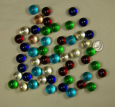Lot of 50+  MIX COLORS clear glass 9/16