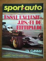 sport auto n°139 1973 COUPE GORDINI - 4 CHV PROTO - SIMCA 1100 TI SANS POSTER