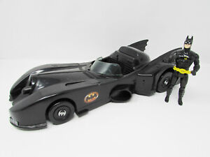 Vintage 1989 DC Comics Toy Biz  Batmobile 14'' w/Batman Figure