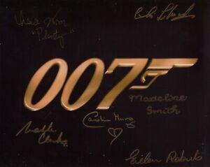 007 James Bond movie photo signed by SIX stars of the films - UACC DEALER