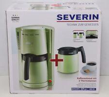 Severin KA 9233-115 Kaffeeautomat mit 2 Thermokannen, grün/schwarz