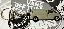VW T5 T6 TRANSPORTER VAN CAMPER KEY RING GREY