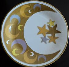 Ramadan/eid Crescent and Star Paper Plate (Pack of 10) Muslim Holiday Decoration