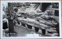 Clifton's Pacific Seas 1940s Realphoto Postcard: Los Angeles, CA Tiki Bar