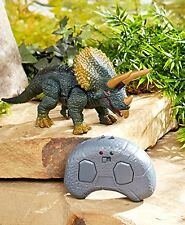 Triceratops Infrared Walking Dinosaur Eyes Light Up Sound Remote Control Toy