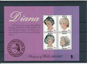 [131] Liberia 1997 Lady Diana good Sheet very fine MNH
