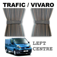 Trafic / Vivaro Curtain Kit - GREY - Left Centre (sliding door) Campervan Curtai
