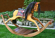 Wood plans to build a Victorian rocking horse.  No carving, smooth rocking