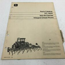Genuine John Deere Integral Chisel Plow 100 Ifh Part Catalog Pc 1204 Dealer 1970