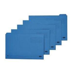 GX20413 Avery Tabbed Folder, Lightweight, Foolscap, Blue, Pack Of 100