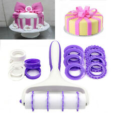 Fondant Strip Ribbon Cutter Embosser Roller Sugarcraft Cake Decorating Tools GS