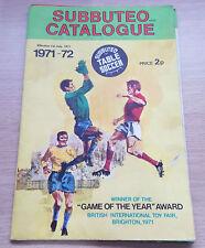 Subbuteo Catalogue 1971-72