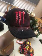 Monster Energy Drink Logo Trucker Cap Hat Black Mesh Snapback Mesh YOUTH CBW4