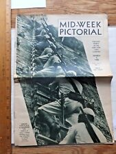 1936 Mid-Week Pictorial Mag- Japanese Soldiers Training for War on the Cover.