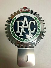 New Vintage Royal Auto Club License Plate Topper- Chromed Brass-Great Gift Item!