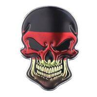Totenkopf Deutschland 3D Aufkleber Skull Sticker Auto Motorrad Schädel Chrom DE
