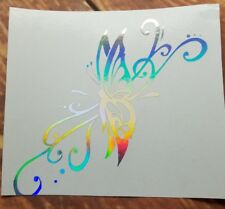 Holographic Butterfly  Vinyl Window Car Decal Free next day ship
