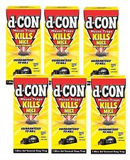 New! Set of 6 D-CON No Touch Ultra Set Covered Mouse Trap Reusable Easy Safe NIB